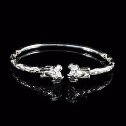 150 West Indian Bangle with Elephant Body Handmade in 925 Sterling Silver