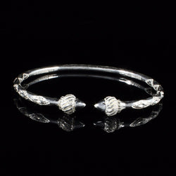 150 West Indian Bangle with Taj Mahal Handmade in 925 Sterling Silver