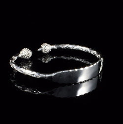 Engravable 150 West Indian Bangle with Taj Mahal Handmade in 925 Sterling Silver