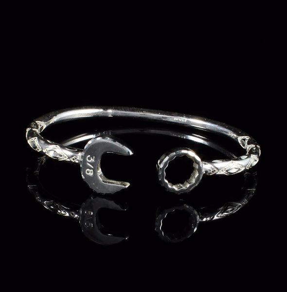 ***Clearance*** 180 West Indian Bangle with Spanner Heads Handmade in 925 Sterling Silver