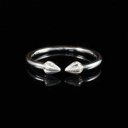 230 West Indian Bangle with Cocoa Pods Plain Handmade in 925 Sterling Silver