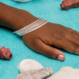 Flat West Indian Jingle 2mm in Calypso Pattern Handmade in 925 Sterling Silver - SOLD INDIVIDUALLY