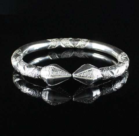 Sold Individually West Indian Bangle 110 Cocoa Pod in 925 Sterling Silver