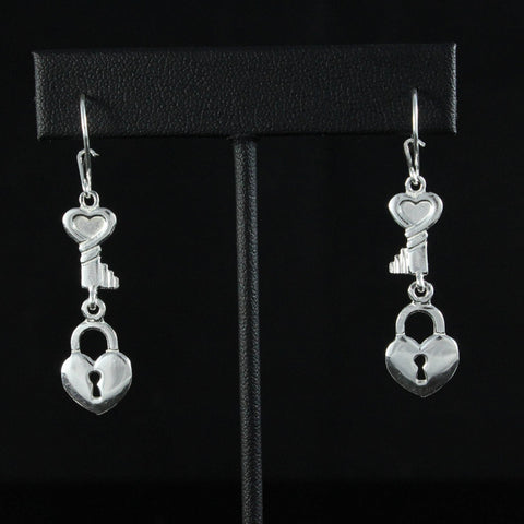 Caribbijou Lock & Key Earring in 925 sterling silver