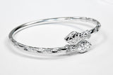 150 West Indian Bangle with Snake Head Handmade in 925 Sterling Silver