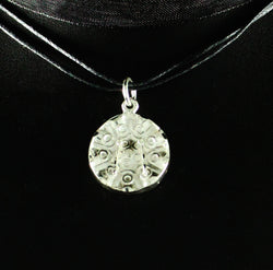Large Detailed Trinidad Steel Pan or Steel Drum Pendant in 925 Sterling Silver