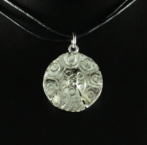 XLarge Detailed Trinidad Steel Pan or Steel Drum Pendant in 925 Sterling Silver