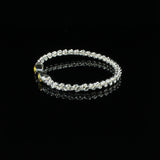 Braided Flexible West Indian Bangle with Lab Created Yellow Topaz November Birthstone Handmade in 925 Sterling Silver