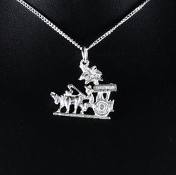 Grenada Bull and Cart Pendant in 925 Sterling Silver