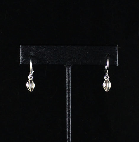 West Indian Cocoa Pod Short Hanging Earring in 925 Sterling Silver