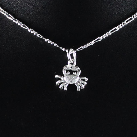 Small Crab Cancer Zodiac Pendant in 925 Sterling Silver