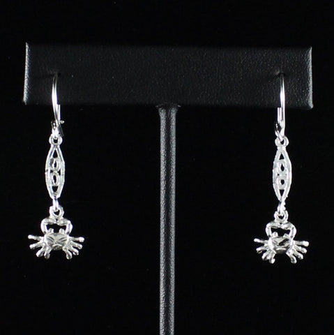 Caribbean Crab Cancer with Extender Bar Long Earring in 925 Sterling Silver