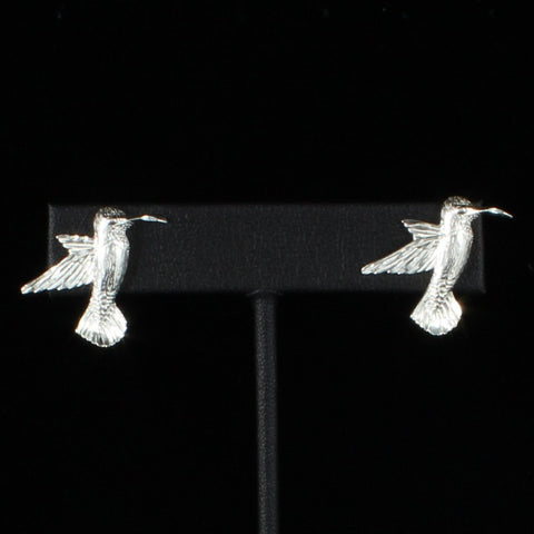 Large West Indian Humming Bird Stopper Stud Earring in Sterling Silver