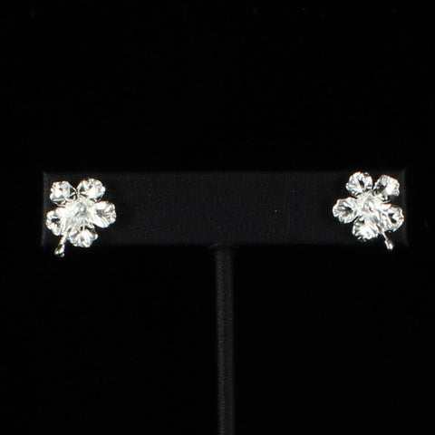 Medium Hibiscus Flower Stopper Stud Earring in Sterling Silver