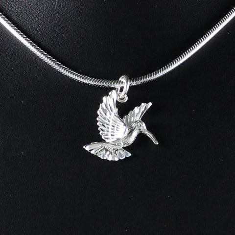 West Indian Humming Bird Medium Pendant in 925 Sterling Silver