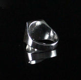 Large Men's Polished Oval ring made in 925 Sterling Silver