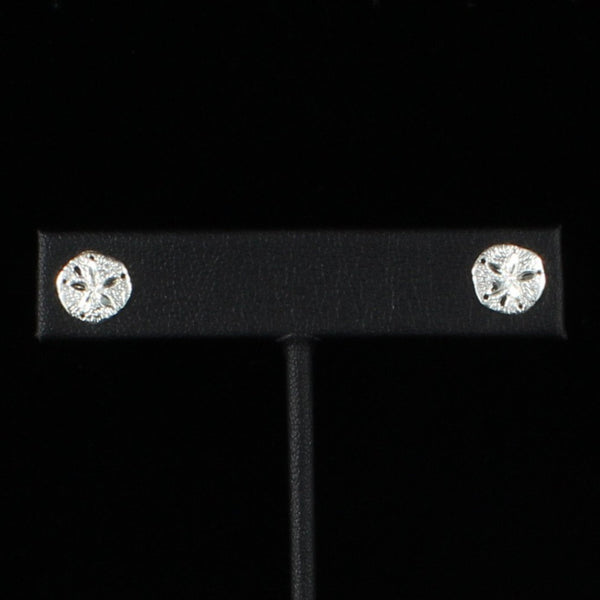 Sand Dollar Stopper Stud Earring in Sterling Silver
