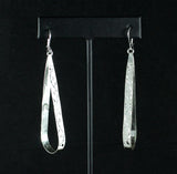 Caribbjou Wide Teardrop Earring with Grapevine Pattern in Sterling Silver