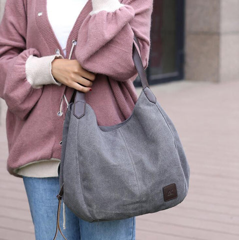 Canvas Hobo Tote - Zillazoom