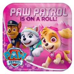 Pink Paw Patrol Paper Party Plates*8
