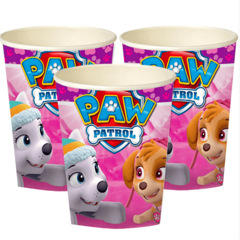 Pink Paw Patrol Party Cups*8 - partypicks.com.au