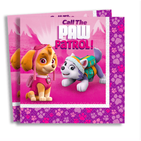 Pink Paw Patrol Party Napkins*16 - partypicks.com.au