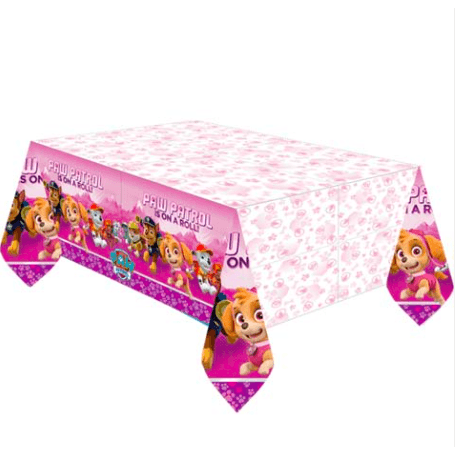 Pink Paw Patrol Plastic Table Cover - partypicks.com.au
