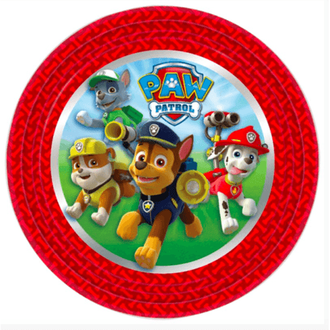 Paw Patrol Party Plates*8 - partypicks.com.au