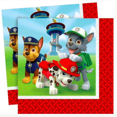 Paw Patrol Party Napkins*16 - partypicks.com.au
