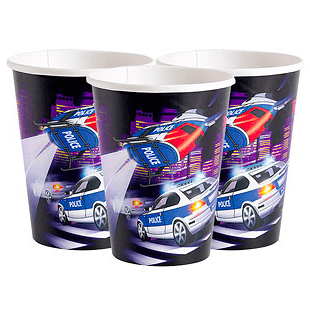 Police Party Cups*8 - partypicks.com.au