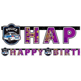 Police Party Birthday Banner - partypicks.com.au