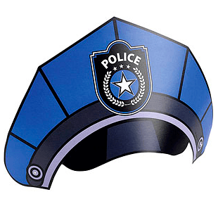Police Party Hats *8 - partypicks.com.au