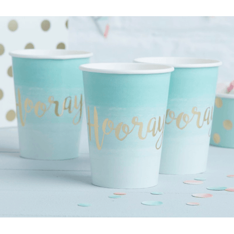 Pink and Mix Mint Green Ombre Paper Party Cup*8 - partypicks.com.au