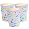 Pink and Mix Sprinkles Paper Party Cups*8 - partypicks.com.au