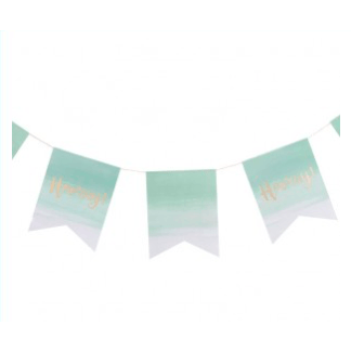 Pink and Mix Mint Green Ombre Hooray Party Bunting - partypicks.com.au