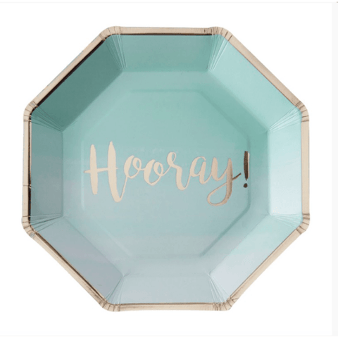 Pink and Mix Mint Green Ombre Paper Party Plates*8 - partypicks.com.au