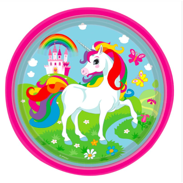 Mythical Unicorn Party Plates*8 - partypicks.com.au