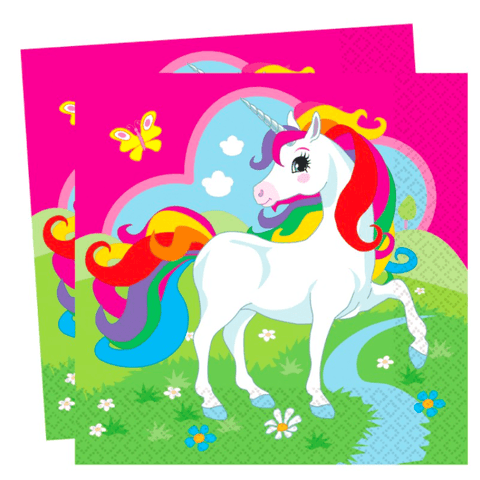 Mythical Unicorn Paper Napkins*16 - partypicks.com.au