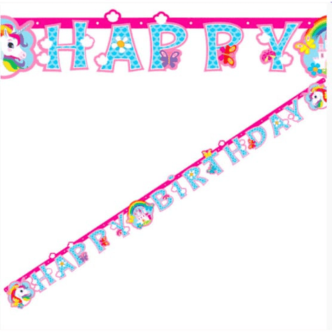 Mythical Unicorn Birthday Banner - partypicks.com.au