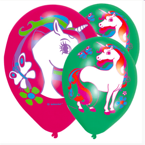 Mythical Unicorn Party Latex Balloons*6 - partypicks.com.au