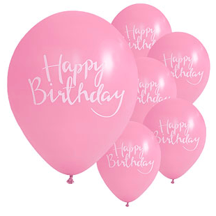 Pastel & Gold Latex Balloons x10