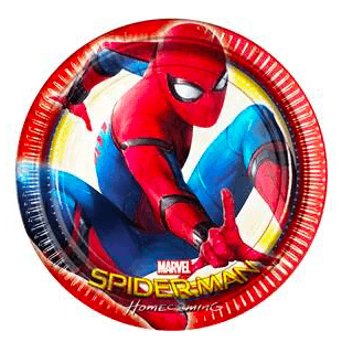 Spider-Man Homecoming Party Plates x8