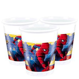 Spider-Man Homecoming Party Cups x8