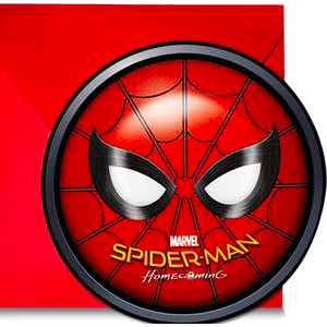 Spider-Man Homecoming Party Invitations x6