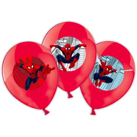 Spider-Man Print Party Latex Balloons x6