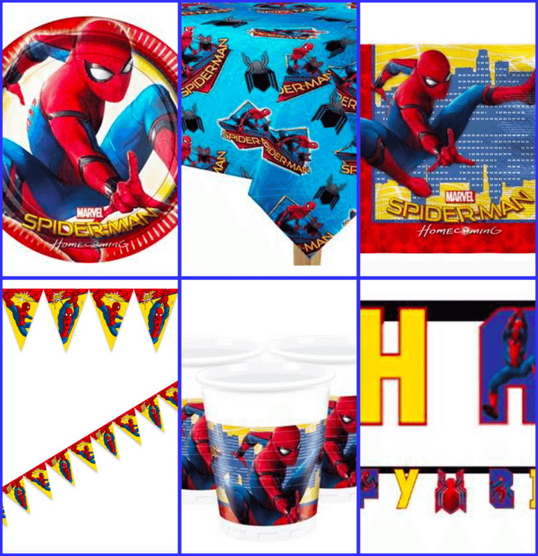 Medium Spider-Man Party Kit for 16 Guests