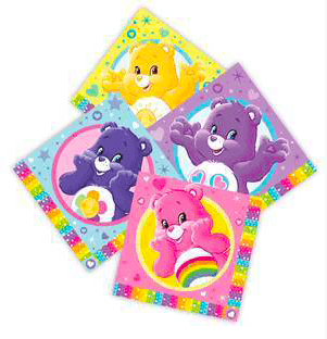 Care Bears Party Napkins x16