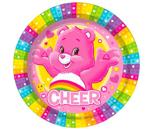 Care Bears Party Paper Plates x8