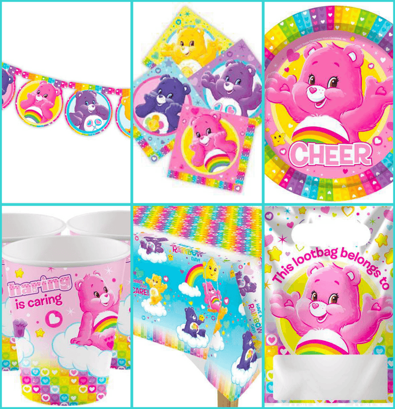 Care Bears Party Package for 16 Guests