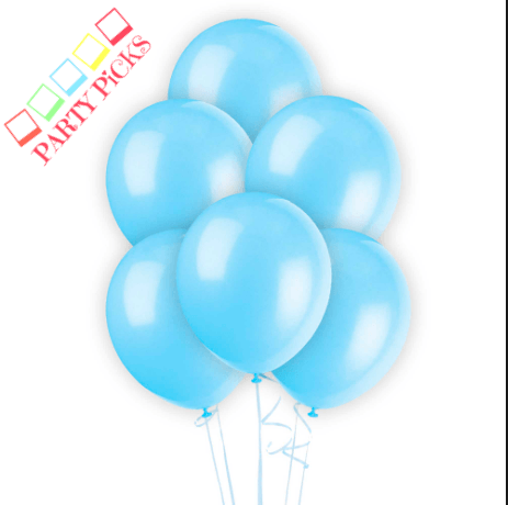 Baby Blue Natural Latex Balloons x 15